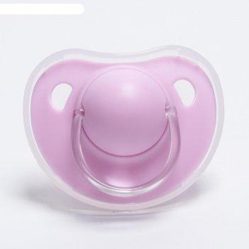 Пустышка ортодонтическая, с колпачком, от 6 мес., микс для девочки