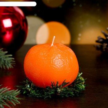 Декоративная свеча новогодний мандарин, 1 шт