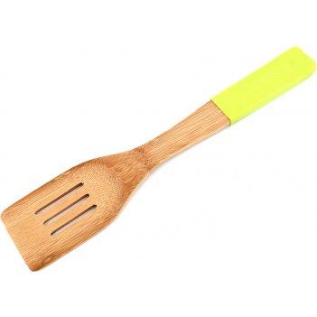 Лопатка кухонная agness c силиконовой вставкой 30*6 см бамбук (кор=40шт.)