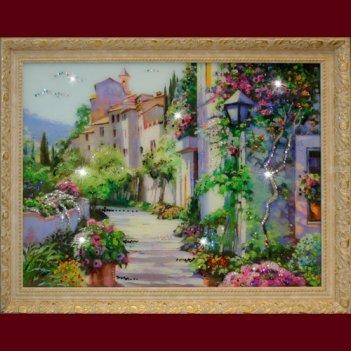 Картина сваровски - цветущий город (большой)
