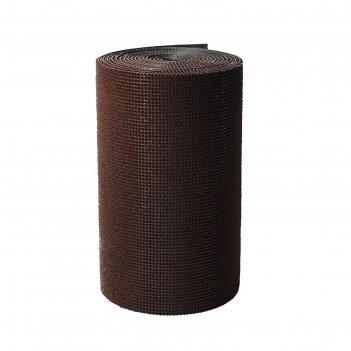 Покрытие ковровое щетинистое 0,9х15 м травка рулон цвет темный шоколад