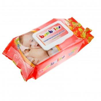 Салфетки влажные «bambolina» детские, 120 шт