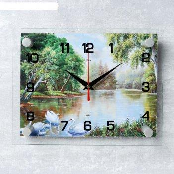 Часы настенные прямоугольные природа 20х26 см
