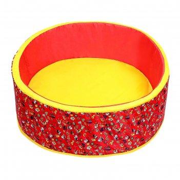 Сухой бассейн весёлая поляна, цвет красный