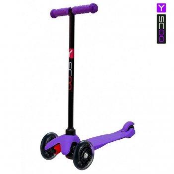 Y-scoo rt mini shine a5 violet с 2-мя светящимися колесами
