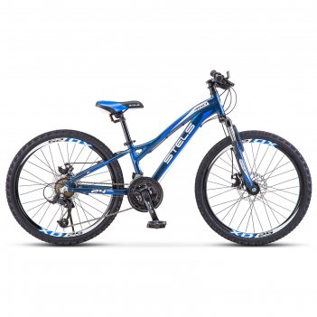 Велосипед 24 stels navigator-460 md, к010 , цвет черный/синий