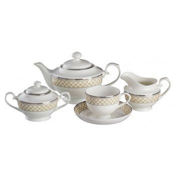 Чайный сервиз на 6 персон 15 пр.1200/220 мл.(кор-4...