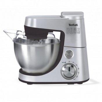 Кухонная машина tefal qb408d38, 900 вт, 6 скоростей, 4 л, серебристая