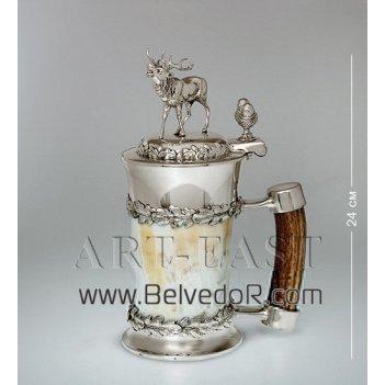 W-at3 пивной кубок из рога с оленем