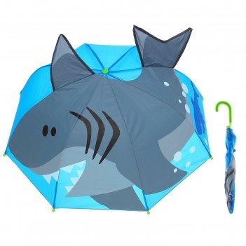 Зонт детский акула, диаметр 74 см