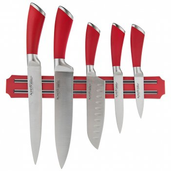 Набор ножей agness 6 пр.с магнитным держателем нерж.сталь (кор=6набор.)
