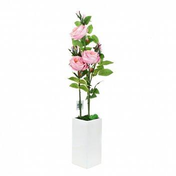 Композиция декоративная (с подсветкой) розовые розы (с эффекто