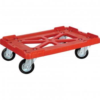 Тележка для  ящиков 600х400, грузоподъемность 200 кг. красная