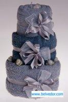 Набор полотенец торт 3штуки, серые