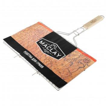 Решетка гриль для мяса maclay, нержав. сталь, размер  420*250