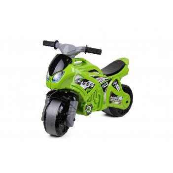 5859 каталка-мотоцикл беговел racing high speed цвет зелёный