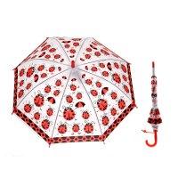 Зонт детский полуавтомат божьи коровки, d=77см