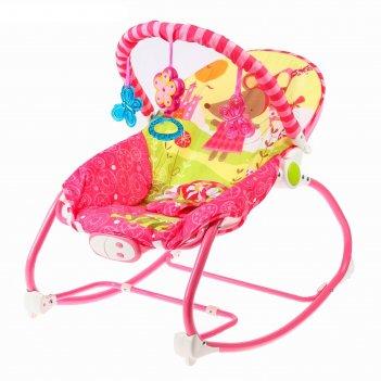 Шезлонг «мышка», с погремушками, цвет розовый