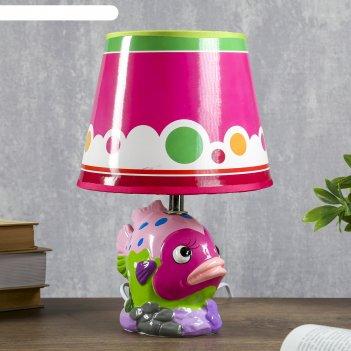 Лампа настольная керамика е14 40вт 220в рыбка микс 30х20х20 см