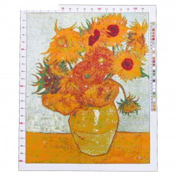 Канва для вышивания с рисунком «ван гог. подсолнухи», 47 х 39 см
