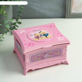 Шкатулка музыкальная розовый ларец