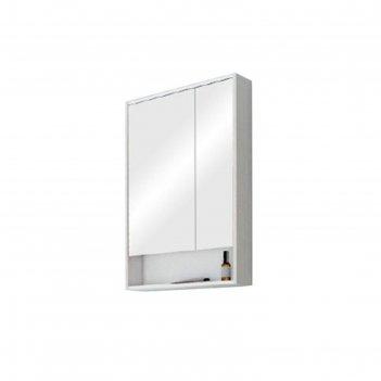 Зеркало-шкаф рико 65 1a215202rib90, цвет белый/ясень фабрик