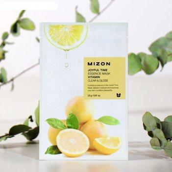 Mizon тканевая маска для лица с витамином с joyful time essence mask vitam