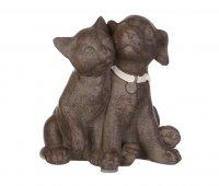 """Фигурка """"кошка с собакой"""" высота=9 см.без упаковки"""