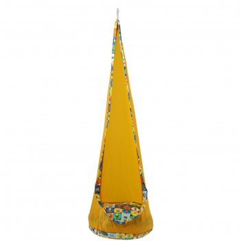 Кресло подвесное «кокон», высота 150 см, диаметр 50 см, цвет жёлтый