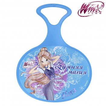 Ледянка зимняя магия, феи винкс: флора, 310 х 410 х 4 мм, цвет голубой