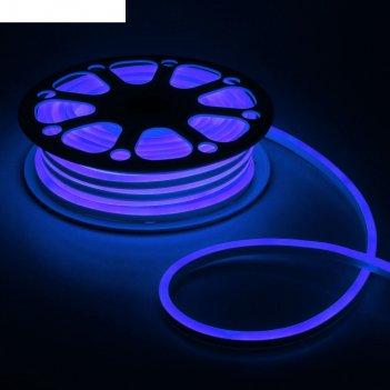 Гибкий неон 8 х 16 мм, 25 метров, led-120-smd2835, 220 v, синий