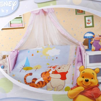 Комплект детскийпух и тигра:кпб 110*140,балдахин,бордюр 4шт,одеяло, подушк