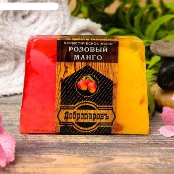 Косметическое мыло для бани и сауны розовый манго, добропаровъ, 100 гр.