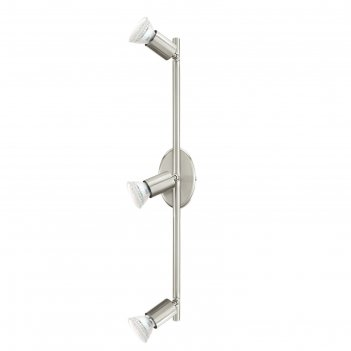 Светильник buzz-led 3x2,5вт led никель 48,5x6,5см