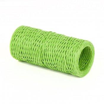Проволока с бумажным покрытием 1.5 мм х 50 м, 80 г, светло-зелёный