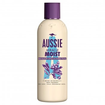 Бальзам-ополаскиватель aussie miracle moist для сухих и поврежденных волос