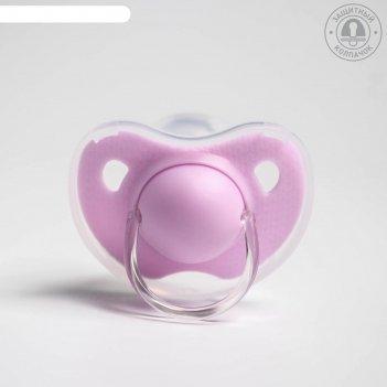 Пустышка ортодонтическая, от 3 мес., микс для девочки
