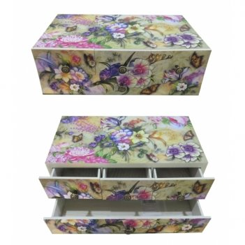 Шкатулка с ящиками, 36х20х12 см