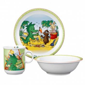 Сервиз детский 3 предм. tabaluga (кружка, тарелка 20 см, сал