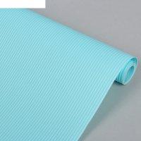 Коврик противоскользящий 30х150 см полосы, цвет голубой