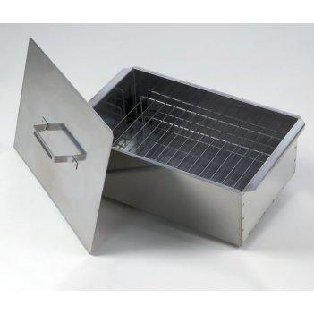 Коптильня двухъярусная малая 420х270х175 (нержавеющая сталь 0,8мм)