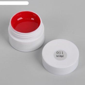 Гель для стемпинга, трёхфазный, led/uv, 5гр, цвет красный