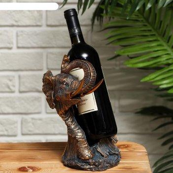 Подставка для бутылки слон 16,5х15.2х26см