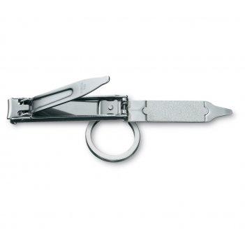 Книпсер victorinox с пилкой для ногтей и кольцом для ключей, металлический