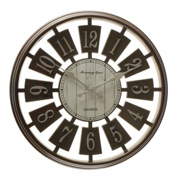 Часы настенные клетус, черные, d=40 см