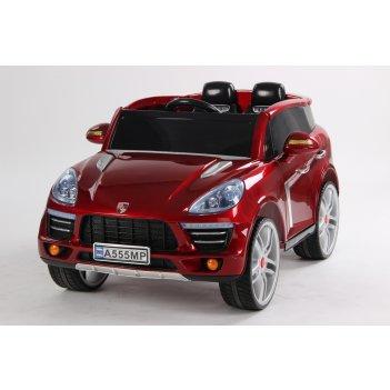 Электромобиль джип porsche macan а555мр vip красный металлик new 2015