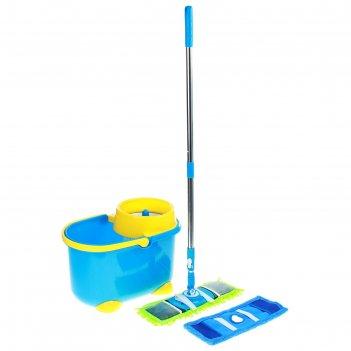 Набор для уборки чистота, 3 предмета: ведро с отжимом, швабра плоская, зап