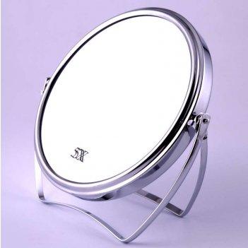Зеркало tsmt 66 настольное металл. 2-х сторон. 5-ти кр. увел