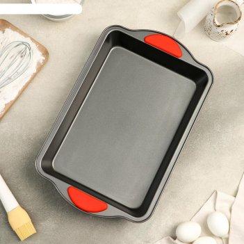 Противень для выпечки «софт. прямоугольник», 40,5x25,5x5,5 см, антипригарн