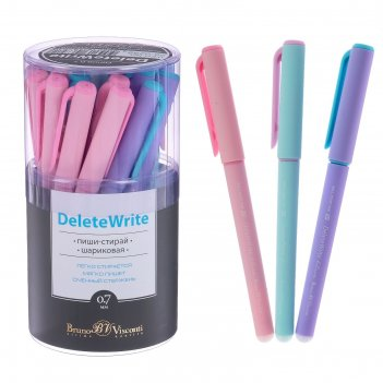 Ручка «пиши-стирай» шариковая deletewrite zefir, стержень синий 0,7 мм, ко